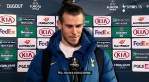 Bale habló de tras el partido de Europa League. DUGOUT