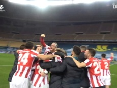 Athletic Bilbao won the Spanish Super Cup after beating Barca after extra-time. DUGOUT