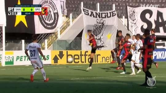 Santos beat Sport Recife 4-2 in a Brasileirao clash. DUGOUT