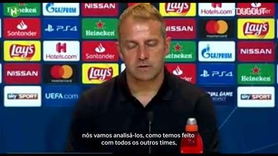 Hans-Dieter Flick falou sobre o jogo contra o Barça. DUGOUT