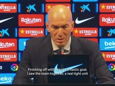 Zidane spoke after the match. DUGOUT
