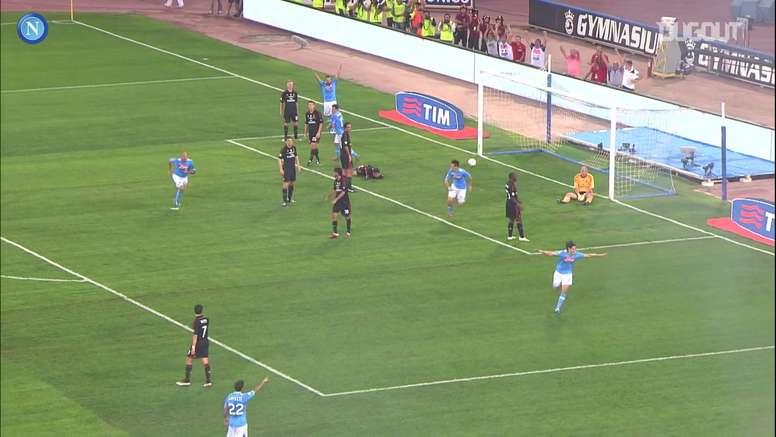 Le triplé de Cavani contre le Milan AC. Dugout