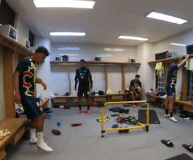 How Club América warmed up. DUGOUT