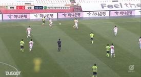 Gustavo's goal gave Jeonbuk a 2-1 victory over Sangju Sangmu in the K-League. DUGOUT