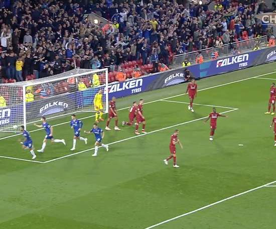 Emerson scored in Chelsea's 1-2 win at Liverpool. DUGOUT