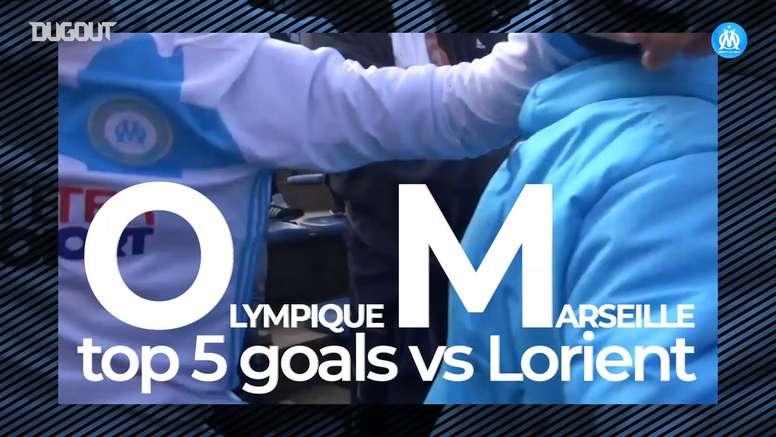 OM's top five goals vs Lorient. DUGOUT