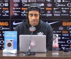 Gabriel concedeu entrevista antes do clássico contra o Palmeiras. DUGOUT
