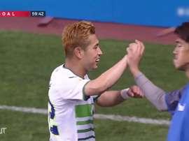 Kim Min-hyeok, o melhor jogador da sétima rodada da K-League 2020. DUGOUT