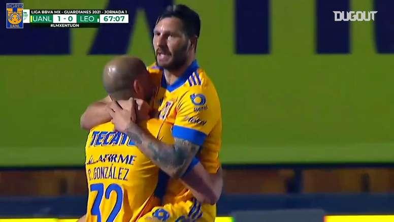 VIDÉO: Le premier but de Carlos González avec les Tigres. Dugout