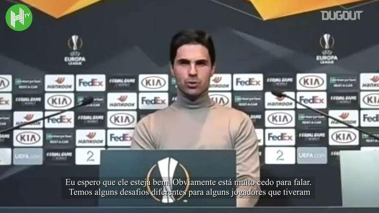 Arteta fala sobre possível lesão de David Luiz. DUGOUT