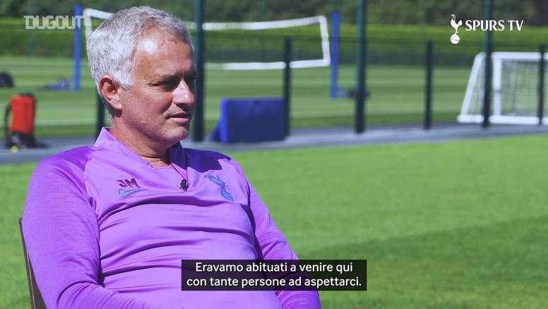 Mourinho racconta il lockdown. Dugout