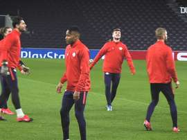 Timo Werner s'entraîne avec le RB Leipzig. DUGOUT