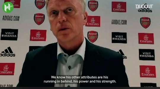Moyes speaks about Antonio's progress. Dugout