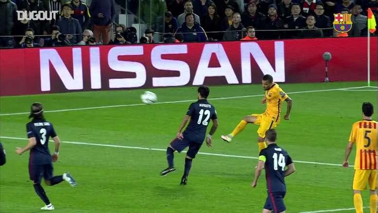 Le reti di Suarez contro l'Atletico. Dugout