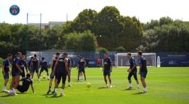 Séance d'entraînement intensive pour Mbappé et ses coéquipiers. DUGOUT