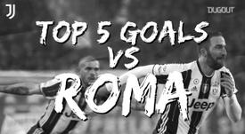 I migliori cinque gol della Juve contro i giallorossi. Dugout