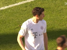 Robert Lewandowski scored in his first game back after the COVID-19 stoppage. DUGOUT