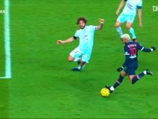 Neymar firmó un partido notable pese al empate ante el Girondins. Dugout
