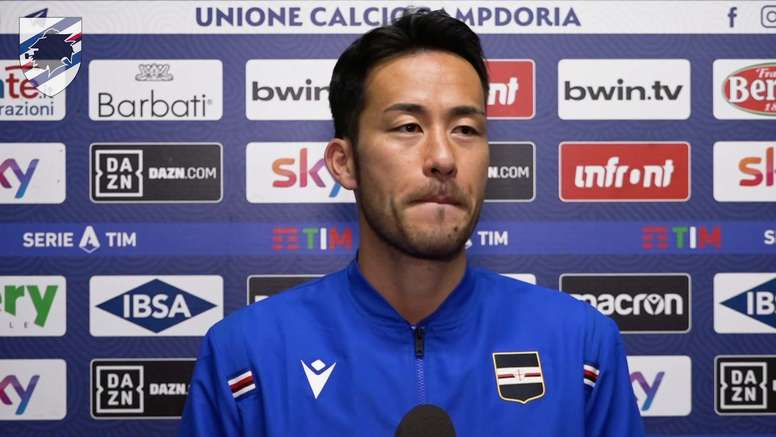 Maya Yoshida played in Sampdoria's 1-1 draw with Genoa last weekend. DUGOUT