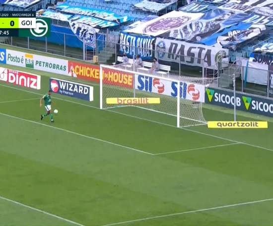 Gremio beat Goias in a Brasileirao match on Monday night. DUGOUT