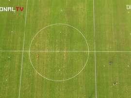 O Nacional retoma suas atividades após a interrupção do futebol forçada pela pandemia. DUGOUT