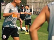 Corinthians' last training session before facing Fluminense. DUGOUT
