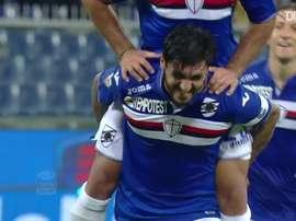 Roberto Soriano scored a great goal for Sampdoria v Bologna. DUGOUT