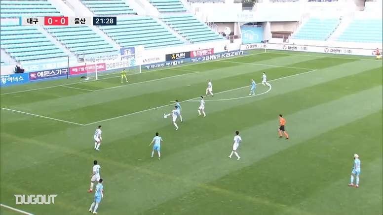 Daegu scored in the 91st minute