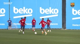 Barça's double training session. DUGOUT