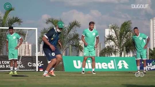 Goiás trains for the game against Ceará. DUGOUT