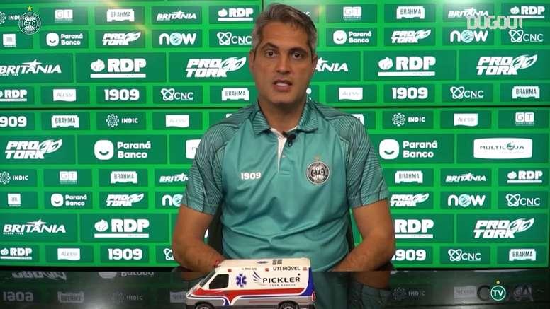 Rodrigo Santana analisa derrota do Coritiba para o Corinthians no Couto Pereira. DUGOUT