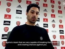 Mikel Arteta was not happy after Arsenal's 0-1 loss to Leicester. DUGOUT
