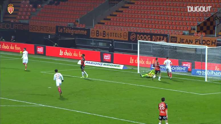Kevin Volland scored as Monaco beat Lorient in Ligue 1. DUGOUT