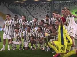 La festa della Juventus. Dugout
