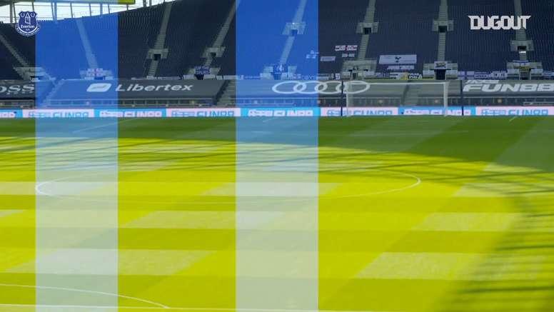 VIDÉO : les coulisses de la victoire d'Everton. Dugout