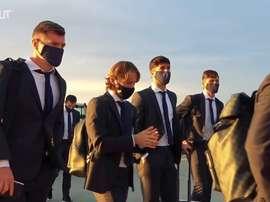 El Madrid llegó a Kiev. DUGOUT