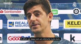 Courtois valoriza vitória e vibra com atitude do Real Madrid. DUGOUT