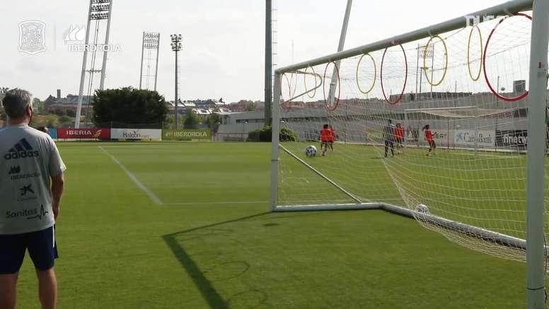 Precision circuit at Spain women's training. DUGOUT