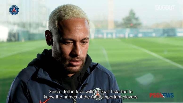 Neymar Jr: ' Football thanks Diego for having chosen this sport'. DUGOUT