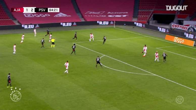 Haller sets up Antony on Ajax debut vs PSV. DUGOUT