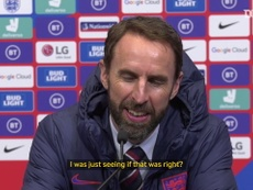 Southgate clarifies whether he had to check Bellingham's homework. DUGOUT