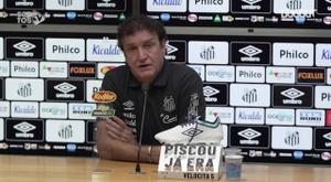 Técnico Cuca concedeu entrevista após vitória sobre o Sport. DUGOUT