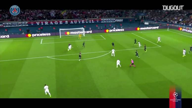 I goal del PSG in Champions. Dugout