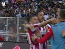 A lively team goal from Atlético. DUGOUT