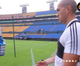 Tigres were back training at their own stadium. DUGOUT