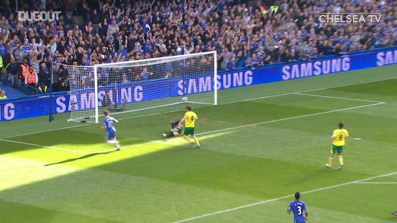 VIDEO: Mata's brilliant run sets up Hazard vs Norwich. DUGOUT