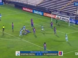 Sporting Cristal beat Alianza UDH 2-0 in the Peruvian League. DUGOUT