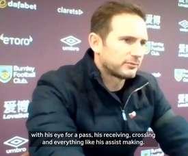 Lampard praised Chelsea. DUGOUT
