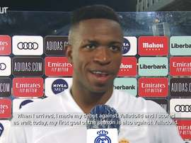 Vinicius was delighted. DUGOUT