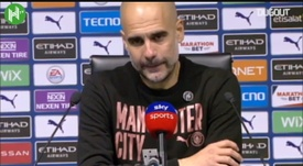 Pep was delighted with his side. DUGOUT